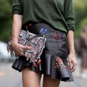 Dámské kožené sukně