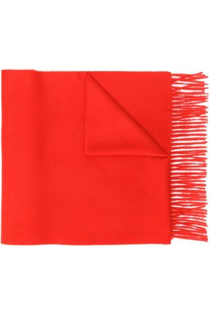 MACKINTOSH Red Cashmere Embroidered Scarf | ACC-013/E