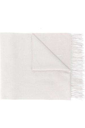 MACKINTOSH Greige Cashmere Embroidered Scarf | ACC-013/E