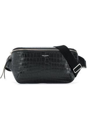 Saint Laurent Crocodile embossed belt bag