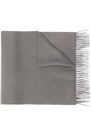 MACKINTOSH Grey Cashmere Embroidered Scarf | ACC-013/E