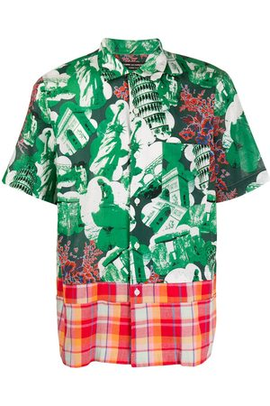 Comme des Garçons Muži S krátkým rukávem - 2001 Monuments print short-sleeved shirt