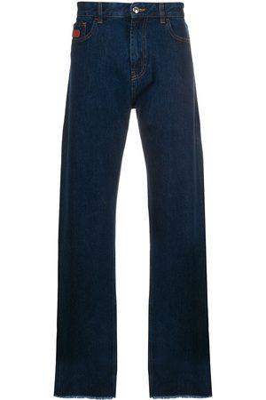 GCDS Muži Široké nohavice - Wide-fit logo patch trousers