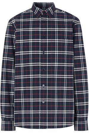 Burberry Muži Košile - Checked slim-fit shirt
