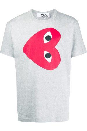 Comme des Garçons Heart print crew neck T-shirt