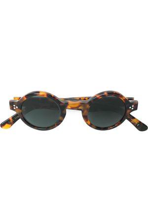 LESCA Tortoiseshell round frame sunglasses