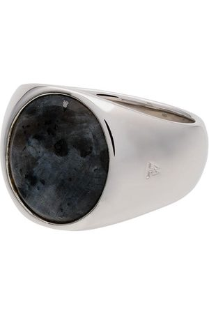 Tom Wood Muži Prstýnky - Sterling silver and opal Oval Larvikite ring