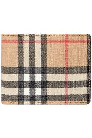 Burberry Muži Peněženky - Vintage Check E-canvas and Leather Bifold Wallet