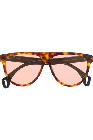 Gucci Round tortoiseshell aviator style sunglasses