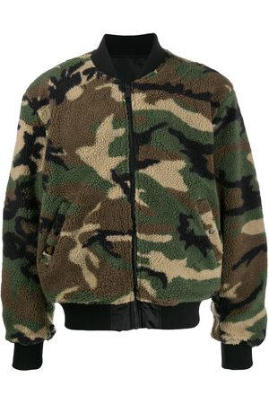 Alpha Industries Camouflage faux-shearling bomber jacket