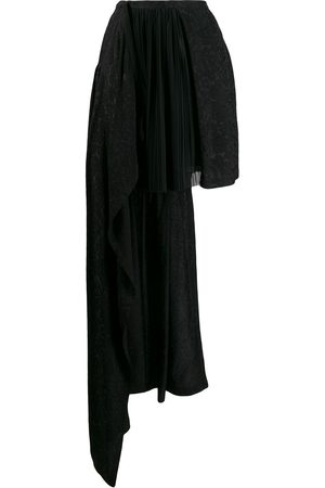 THORNTON BREGAZZI Asymmetric jacquard skirt