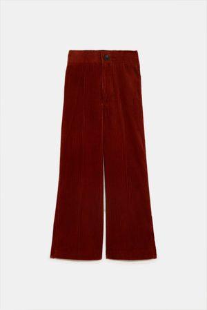 Zara široké manšestrové kalhoty