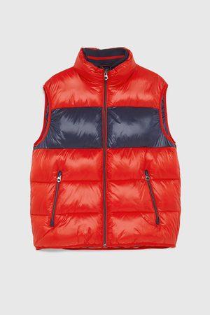 Zara Prošívaná vesta color block