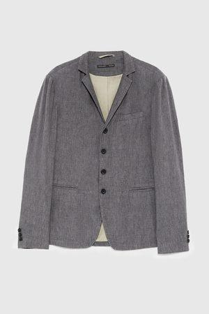 Zara Rustikální oblekové sako