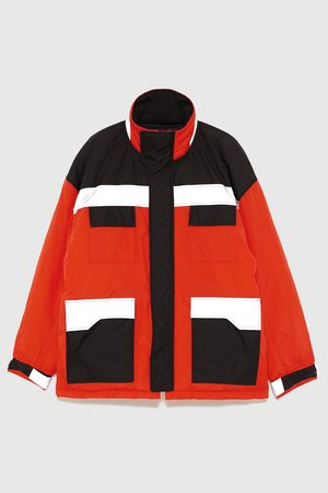 Zara Prošívaný reflexní tříčtvrteční kabát