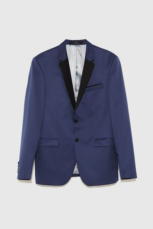 Zara Oblekové sako s kontrastními klopami