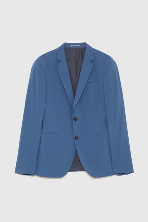 Zara Modré oblekové sako