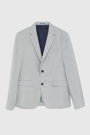Zara Kostkované oblekové sako