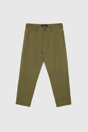 Zara Rovné kalhoty se sklady
