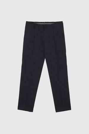 Zara široké flanelové kalhoty