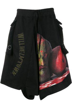 BERNHARD WILLHELM Muži Bermudy - Oversized graphic print shorts