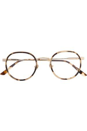 Calvin Klein Sluneční brýle - Tortoiseshell round-frame glasses