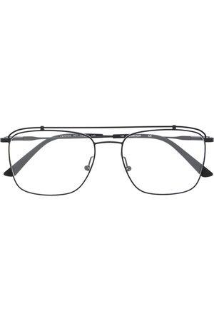 Calvin Klein Aviator-style logo glasses