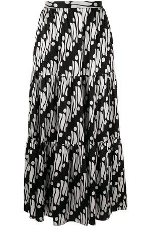 ANDREW GN Ženy Maxi - Geometric flared maxi skirt