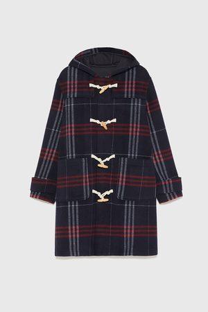 Zara Tříčtvrteční kabát s kostkou