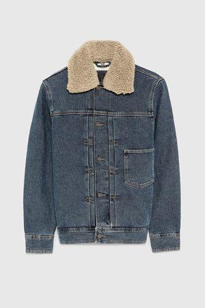 Zara Džínová bunda s kombinovaným límcem