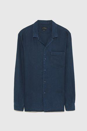 Zara Splývavá džínová košile