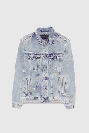 Zara Džínová bunda s opraným vzhledem