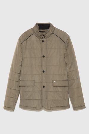 Zara Prošívaný tříčtvrteční kabát s odnímatelnou vestou