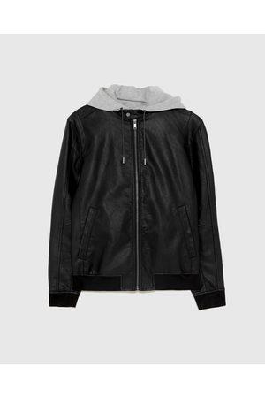 Zara Kombinovaná bunda z imitace kůže
