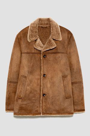 Zara Tříčtvrteční kabát s dvojí texturou