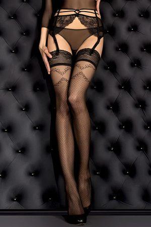 Ballerina Luxusní samodržící punčochy Smeraldo 390