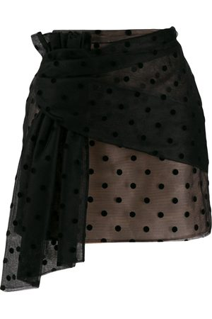 Nº21 Polka-dot mesh mini skirt