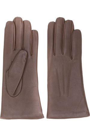 N.PEAL Short leather gloves