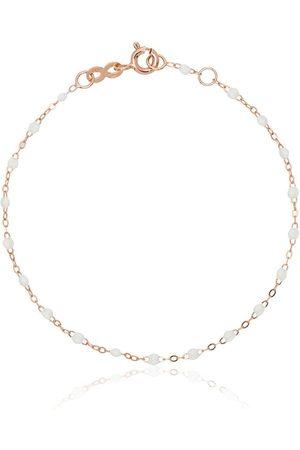GIGI CLOZEAU 18k rose gold white beaded bracelet