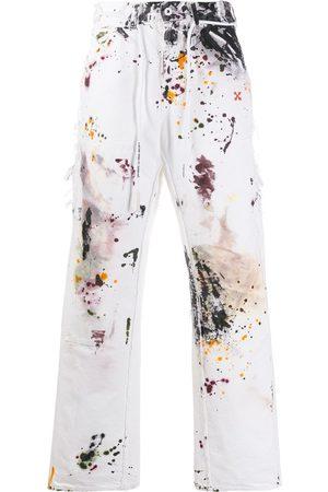 OFF-WHITE Ink splash print slim jeans