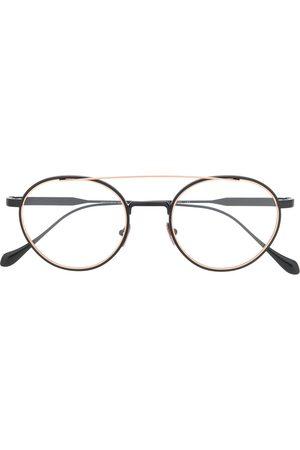 Armani Round logo glasses