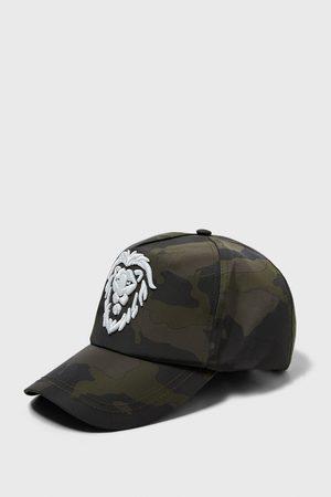 Zara čepice s výšivkou a potiskem kamufláže