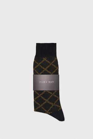 Zara žakárové ponožky s řetězem