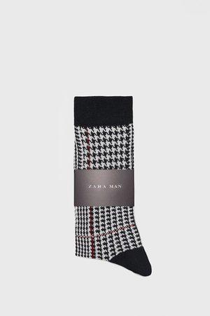 Zara Kostkované žakárové ponožky