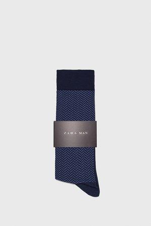 Zara Ponožky z mercerizované bavlny se vzorem rybí kosti