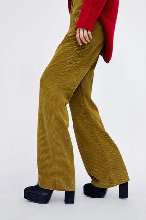 Zara Manšestrové kalhoty flared