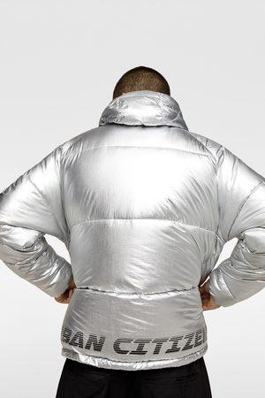Zara Metallic puffer jacket