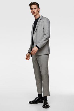 Zara Oblekové sako se vzorem kohoutí stopy