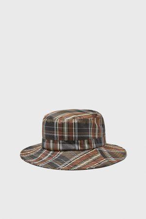 Zara Kostkovaný klobouk soft