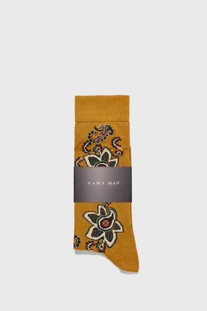Zara Ponožky z mercerované bavlny se vzorem paisley